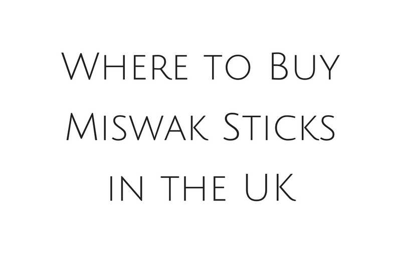 Where to Buy Miswak Sticks in the UK