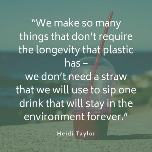 Plastic pollution quote Heidi Taylor