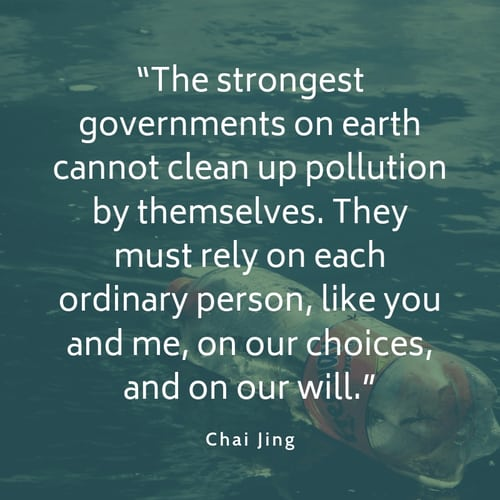 Pollution quote Chai Jing