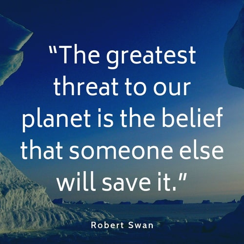 Pollution quote Robert Swan