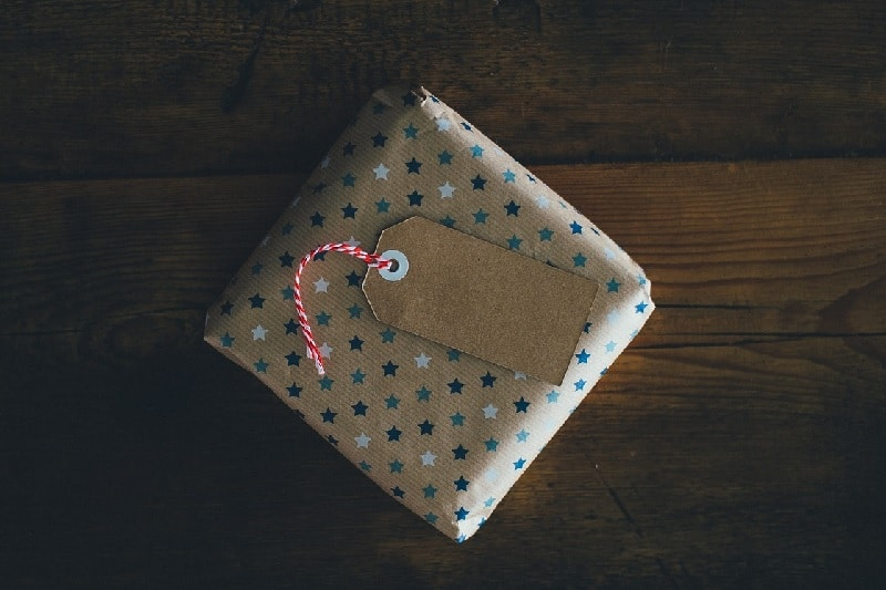 Gift in wrapping paper