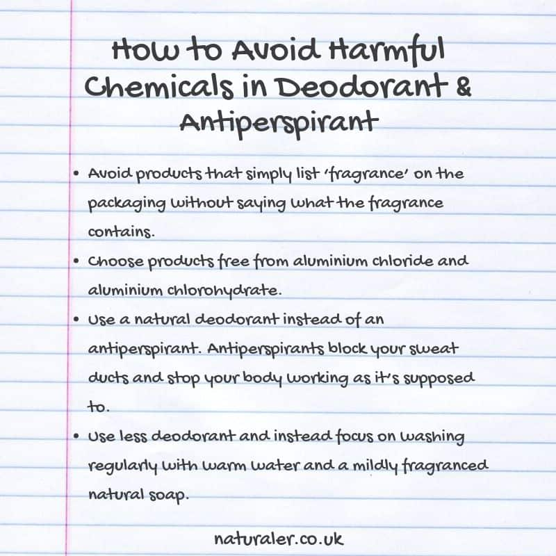 How to Avoid Harmful Chemicals in Deodorant & Antiperspirant