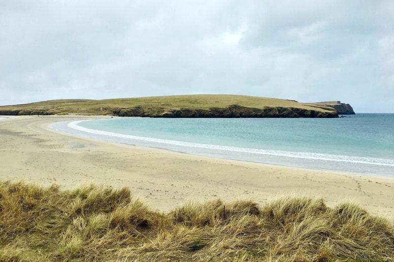 Deserted Beach on Shetland Islands