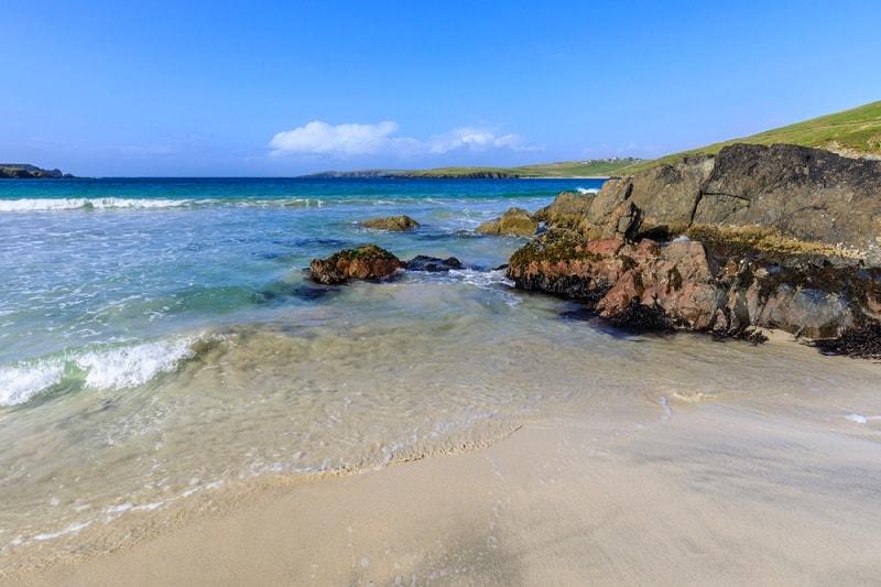 Scousburgh Sands Shetland Islands
