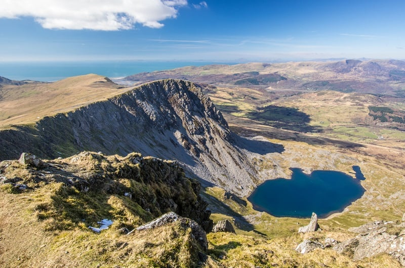 View From Cadair Idris in North Wales