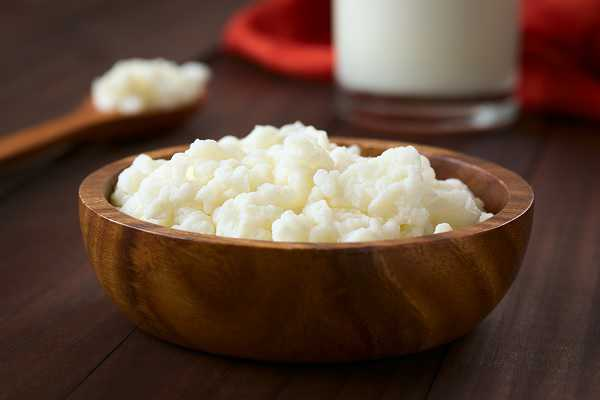 Kefir in a bowl